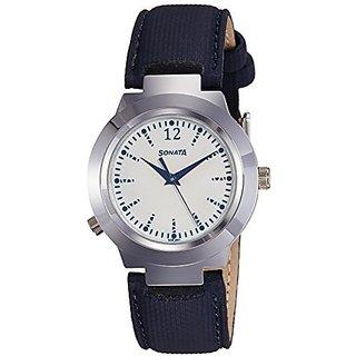Sonata Quartz White Dial Women Watch-90057SL01