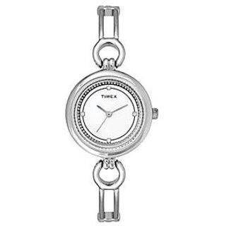 Timex Analog White Round Watch -TWEL11400