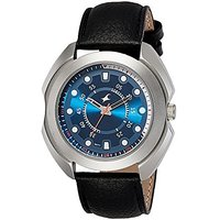 Fastrack Quartz Blue Round Men Watch 3117SL04