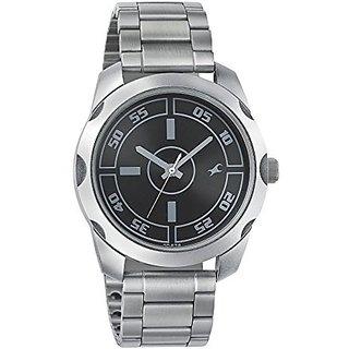 Fastrack Quartz Black Dial Mens Watch-3123SM01