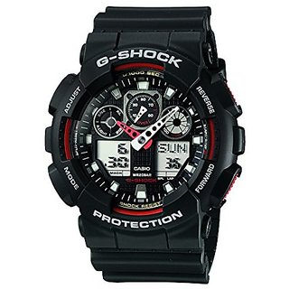 Casio G Shock Analog Digital Black Dial Men's Watch, GA-100-1A4DR (G272)