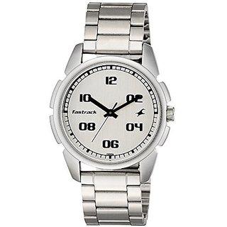 Fastrack Quartz Silver Dial Mens Watch-3124SM01