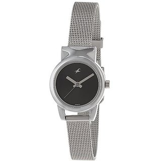 Fastrack Analog Black Round Watch -6088SM01