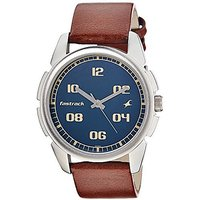 Fastrack Quartz Blue Round Men Watch 3124SL02
