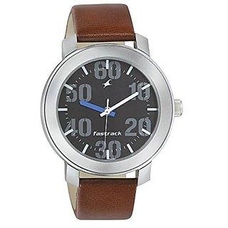 Fastrack Quartz Black Dial Mens Watch-3121SL01