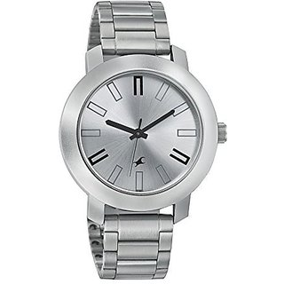 Fastrack Analog Silver Round Watch -3120SM01