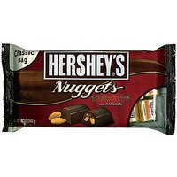 Hershey Nuggets Dark Chocolate With Almonds, 12 Ounce (