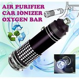 Gadget Hero's New Mini Car Auto Ionizer Fresh Air Purifier Oxygen Ozone Bar Cleaner Deodorant Black Color Car 12V DC Powered No Refilling Required