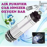 Gadget Hero's New Mini Car Auto Ionizer Fresh Air Purifier Oxygen Ozone Bar Cleaner Deodorant Silver Color Car 12V DC Powered No Refilling Required