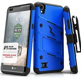 LG X Power Case, Zizo [Bolt Series] with FREE [LG X Power Screen Protector] Kickstand [Military Grade Drop Tested] Holster Belt Clip - LG X Power K210