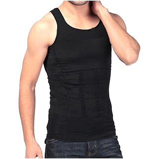 13da0f23a0 Magideal Men s Shapewear Body Shaper Vest Sliming Chest Waist Belly  Underwear-Black M