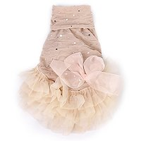 Imported Pet Dog Puppy Turtleneck Princess Dress Tulle