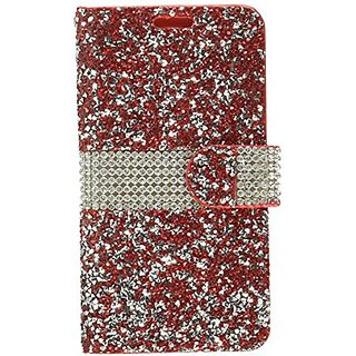 the latest 837d2 0ecba Asmyna Wallet Case for LG K7, LG K373 (Escape 3), LG L52VL (Treasure LTE),  LG Tribute 5 - Red