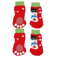 Generic Christmas Snowman Pet Dog Puppy Cat Non-Slip So