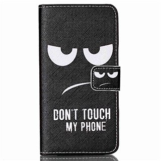 G530H Case, Galaxy Grand Prime Case, Love Sound [Don't Touch My Phone] Luxury PU Leather Case Flip Cover with Card Slots Stand for Samsung Galaxy Grand ...