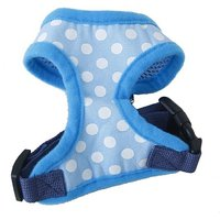 Generic Pet Dog Soft Mesh Harness Clothes M - Blue With