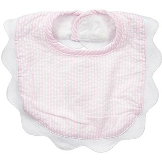 fc2eca15f Buy Mud Pie Baby Bib Applique, Pink Seersucker, One Size Online - Get 18%  Off