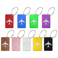 Travel Luggage Tags Suitcase Luggage Bag Tags, Travel ID Bag Tag 9 Pack