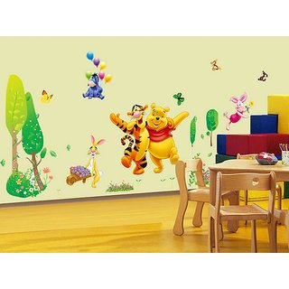 Incredible Cute Bear Tiger Animals Kid Room Wall Sticker Pvc Vinyl 90 Cm X 60 Cm Decorative Stickers Home Interior And Landscaping Pimpapssignezvosmurscom