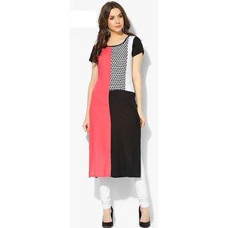 Designer Multicolor Digital Printed Crepe Kurtis For Women from shopurstuff