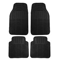 Autosun Foot Rubber Car Mat Universal For Car (Black)