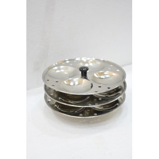 Meet Stainless Steel Cookware Idli Stand 3 Plates