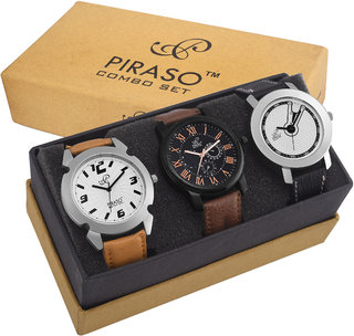 Combo Pack Of 3 Analog Watches