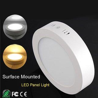 SNAP LIGHT LED Surface Light 8W Ceiling Light (White) ( Round)- Pack of 1