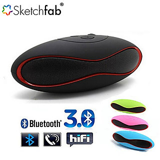 Sketchfab Mini Rugby style Bluetooth Speakers Small in size BIG on quality. Play FM radio