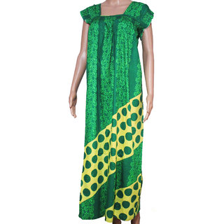 c41b47fa75 Buy BFS Green Women Printed Full Cotton Sleepwear Long Nighty Online ...