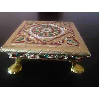 Indian Handicraft Meenakari Bajot,For Pooja,Mandir,Chowki for Puja