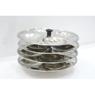 Meet Stainless Steel Cookware Idli Stand 4 Plates