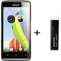 Combo Of Adcom A50 - Black + APB 2200mAh Powerbank- Black