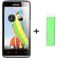 Combo Of Adcom A50 - Black + APB 2200mAh Powerbank- Green