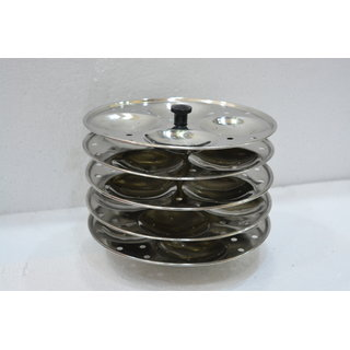 Meet Stainless Steel Cookware Idli Stand 5 Plates