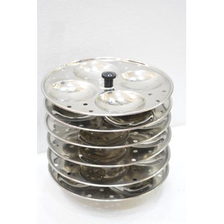 Meet Stainless Steel Cookware Idli Stand 6 Plates