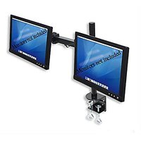 Dual LCD Monitor Stand Desk Clamp Holds Up To 24-Inch L