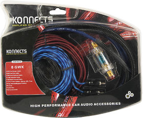 Konnects Professional Amplifier Installation Wiring Kit - 8 Guage