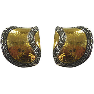 Asian Pearls & Jewels Gold And Silver Fashion Earrings - 4845950