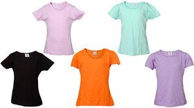 Little Stars Multi Colour 100 Cotton T-Shirt (Pack Of 5)