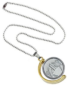 Men Style Rupees Symbol Anjaan Locket Gold And Silver Alloy  Pendant For Men and Boys