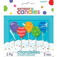 Party Time Molded Balloons Birthday Toothpick Candles,