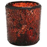 Kiera Grace Mosaic Glass LED Candle, 2.76 By 3.15-Inch,