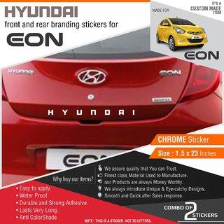 Buy Hyundai Stickers For Hyundai Eon Chrome Vinyl Online Get 72 Off