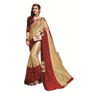 Ridham Sarees Multicolor Georgette Embroidered Saree With Blouse