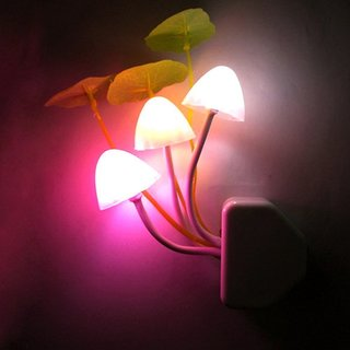 Led Mushroom Night Lamp Wall Light Day Night Sensor Control Bed Lamp Bedroom Lamp