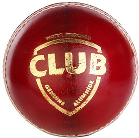 dixon dd Club Cricket Ball 100 pure lather - Size Regular  (Pack of 1, Red)