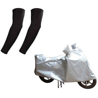 HMS Bike body cover Custom made for Honda CB Unicorn+ Free Arm Sleeves - Colour Silver
