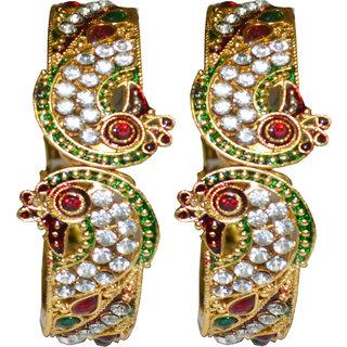 BRS Fashions Adjustable Golden Bracelet
