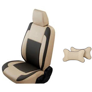 AutodecorHyundai Getz Beige Leatherite Car Seat Cover with Neck Rest Free